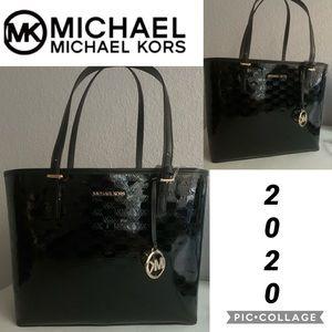 NWT MICHAEL KORS Satchel Jet Set Travel Bag Black